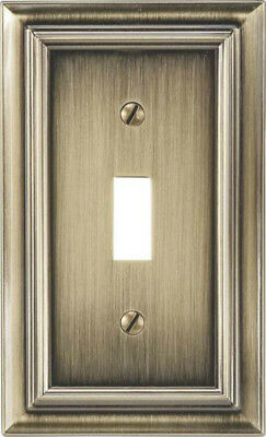 Amertac 94TBB Continental 1 Toggle Wallplate, Brushed Brass