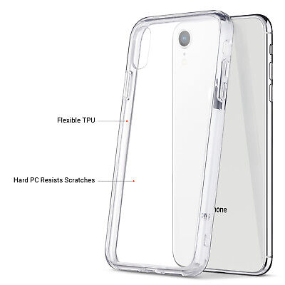 """for Apple iPhone XR 6.1"""" Case Silicone Crystal Clear Bumper Gel iPhone 10R Cover"""
