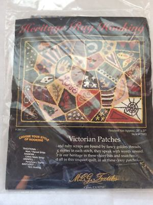Heritage Rug Hooking (not Latch Hook) - Victorian Patches - Canvas only. 20x27""