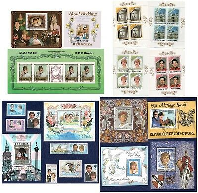 (4) BOGEN_BLOCK_BRIEFMARKEN_Prinzessin_Princess_Lady_DIANA_WILLIAM_Royal Family