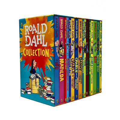 Roald Dahl Complete Collection Children Going Solo Boy 16 Books Box Set New