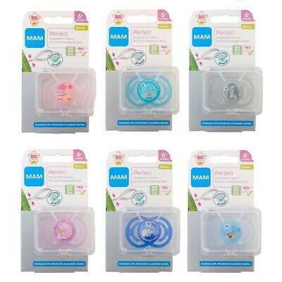 MAM Perfect Soother 6m+ CHOICE OF DESIGN BOYS/GIRLS (A136)