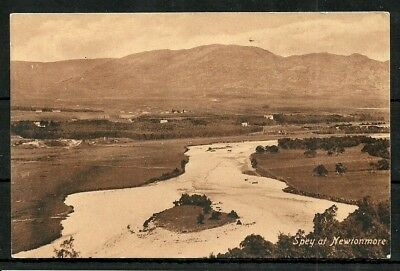 Postcard  : Newtonmore view of the river Spey
