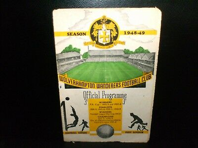 1948/1949  Wolverhampton Wanderers  V  Liverpool  Fa  Cup Match At Molineux