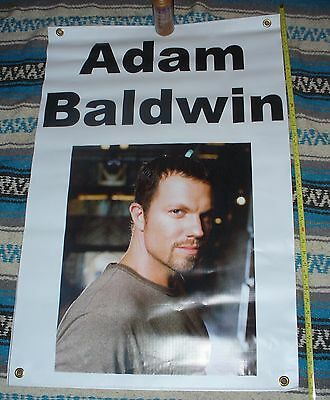 very rare Adam Baldwin Firefly Serenity Independence Day convention banner 2x3