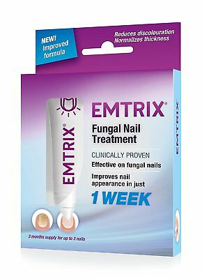 Emtrix Fungal Nail Treatment 1 Week Noticeable Effect x 3 Pack - (£13.99 a pack)