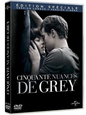 "DVD ""CINQUANTE NUANCES DE GREY"" version longue + version cinéma    NEUF/BLISTER"