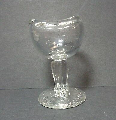 Vintage John Bull Eye Wash Cup Clear Glass Patent Aug 14, 1917