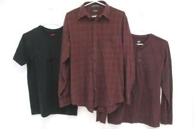 Mixed Lot Men's FENDER Tee Old Navy Henley Long Sleeve Arrow Flannel/Plaid SZ M