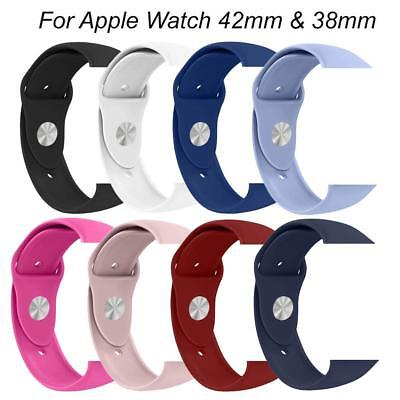 UK Silicone Replacement Wrist Strap Watch Band for Apple Watch iWatch 42mm 38mm