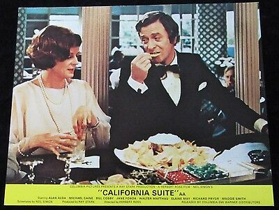 CALIFORNIA SUITE lobby card  MAGGIE SMITH, MICHAEL CAINE