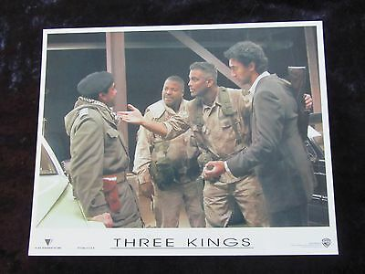 Three Kings lobby card # 3 - George Clooney, Ice Cube
