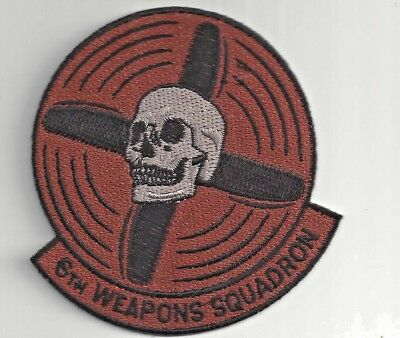 PATCH USAF 6TH WEAPONS SQ WS                                       j