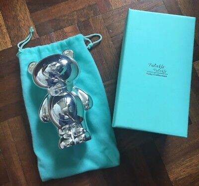 Twinkle Twinkle Silver Plated Bear Money Box New And Unused In Original Box