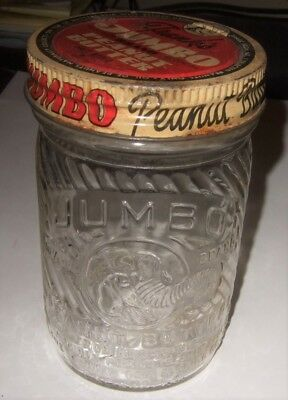 Advertising Jumbo Peanut Butter Jar Jumbo Elephant Jar Authentic Jar and Lid