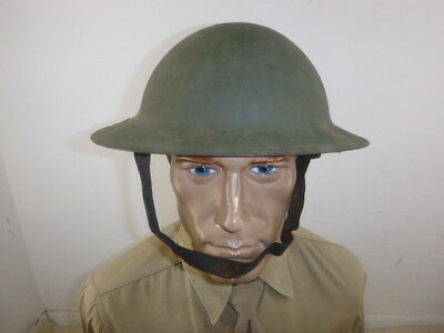 Nice Ww 1 Us Army Doughboy Combat Helmet With Liner And Chinstrap