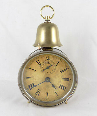 Rare Antique Ansonia 'reveille' Single Bell Alarm Clock - Fully Working