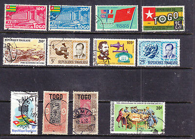 Togo postage stamps - 12 x USED  - Collection odds