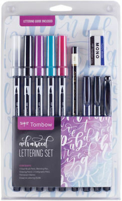 Tombow Dual Brush Pen Art Markers Advanced Lettering Set, Brand New Sealed Pack!