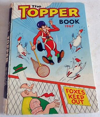 VINTAGE 1967 TOPPER BOOK, COMIC ANNUAL: UNCLIPPED: D. C. Thomson