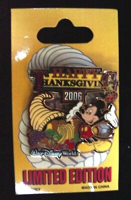 Disney PIN - 2006 LE THANKSGIVING MICKEY MOUSE POP MOC WDW - LE 1000 - #1 of 5