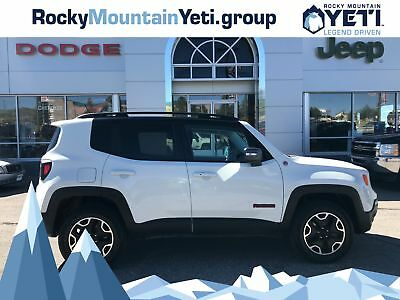 2016 Renegade Trailhawk 4x4 2016 Jeep Renegade, Alpine White with 41,894 Miles available now!