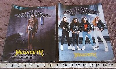 VINTAGE 1990s HEAVY METAL MAGAZINE LOT OF 2 - FOUNDATIONS Megadeth Queensryche