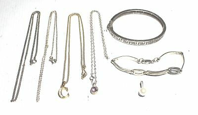 7 Pieces Collection of SILVER & COSTUME JEWELLERY 42.1g - T06