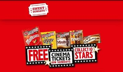 Sweet Sunday Codes For 1 Free Cinema Tickets On A Sunday