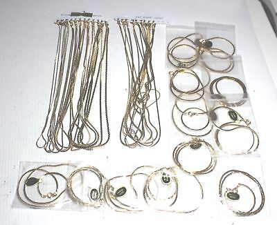 Bulk Collection of GOLD PLATED Flat Chain Necklaces 135g - E37