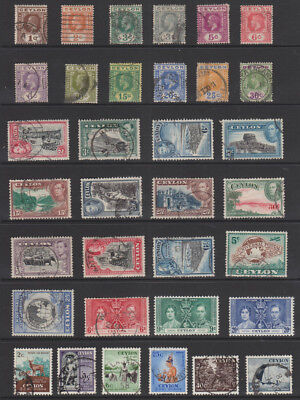 Uncle Shelby's Really Old Stamps Lot #58656  --  Ceylon  --  Used