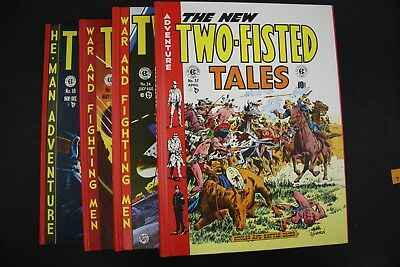 Vintage 1980 EC Two-Fisted Tales Comic Book Hard Cover Complete 4 Vol Set (5)