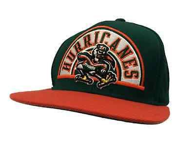 Miami Hurricanes Adidas YOUTH Kids Green Snapback Flat Bill Hat Cap (OSFM) b61a9394e401