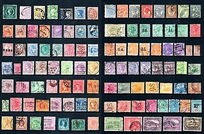 Australia a Nice collection of 100 Used State Colonial Era Stamps