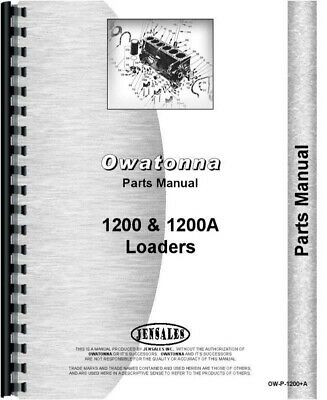 OMC OWATONNA MUSTANG 2060 Skid Steer Loader Parts Manual