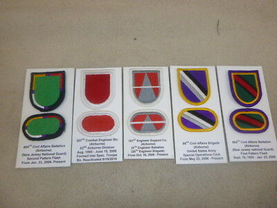Super Id'd Group Of Beret Flashes With Ovals From Collection ( C )