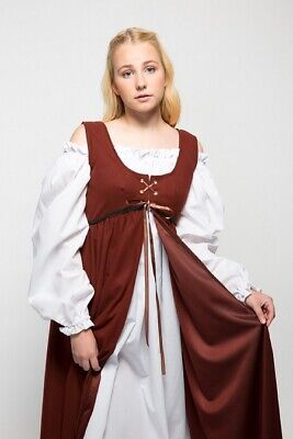 Medieval Dress Renaissance Fair Halloween Costume Wench Pirate Lace Up Bodice