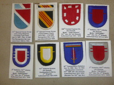 Super Id'd Group Of Beret Flashes & Pins From Collection ( K )