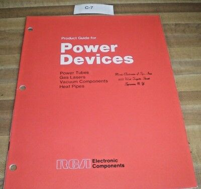 Vintage Product Guide for RCA Power Devices Electronic Components Booklet