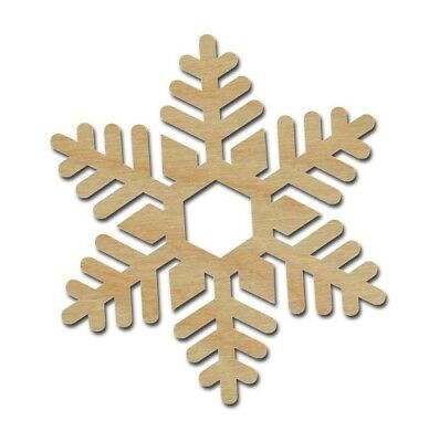 SNOWFLAKE SHAPE UNFINISHED Wood Cutouts Holiday Decor Variety of Sizes SNF02