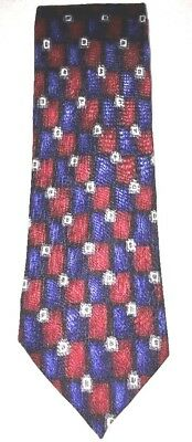 Stonehenge COCKTAIL COLLECTION Red Blue Tequila 100% Silk Neck Tie Necktie