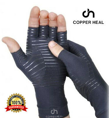 Arthritis Compression Gloves COPPER HEAL Rheumatoid Carpal Tunnel RSI Osteoarthr