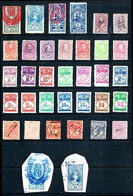 Australia Qld a Nice Collection of State Revenue Duty Stamps