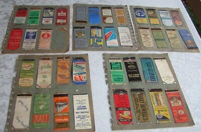 61 -  1940s Matchbook Match Book Collection - All Florida Mostly Dayton Beach