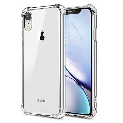 Shockproof Soft Phone Case For iPhone XS XR XS Max Clear TPU Silicone Case