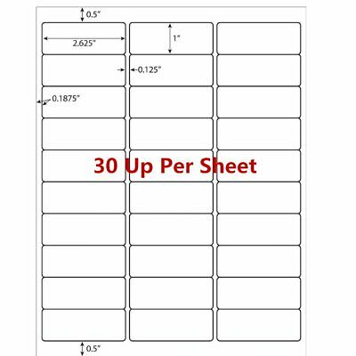 15000 Address Labels 2.625''x1'' Per Sheet 30 UP For  Amazon FBA 500 Sheets US