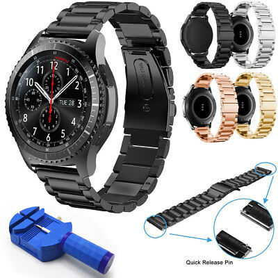 For Samsung Gear S3 Classic Frontier 22mm Stainless Steel Watch Band Bracelet