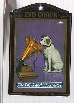 Nipper Phonograph His Master's Voice Pub Sign The Dog and Trumpet