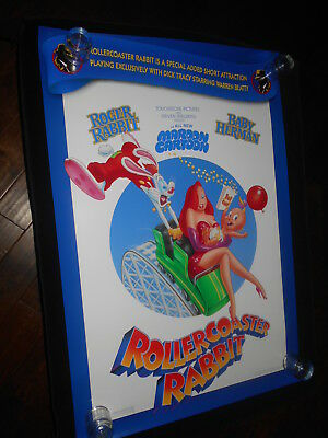 Roller Coaster Rabbit Orig Rolled Double Sided One Sheet Poster  Roger Rabbit