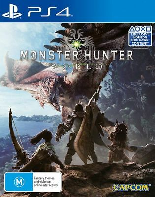 Monster Hunter World PS4 Game PlayStation 4 like New Game